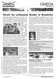 Verein für verlassene Kinder in Rumänien - Reformierte Kirche ...
