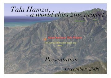 Tala Hamza - a world class zinc project - SA Explorers