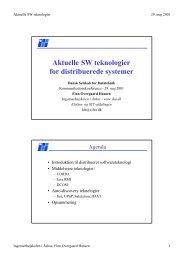 Aktuelle SW teknologier for distribuerede systemer (Slides PDF format)