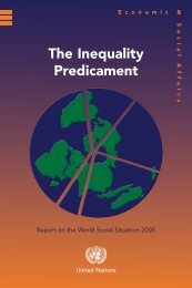 The World Social Situation in 2005 - Sustainable Design International
