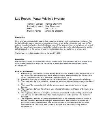 formal lab report empirical formula Empirical formula lab report[1] - free download as word doc (doc), pdf file (pdf), text file (txt) or read online for free.