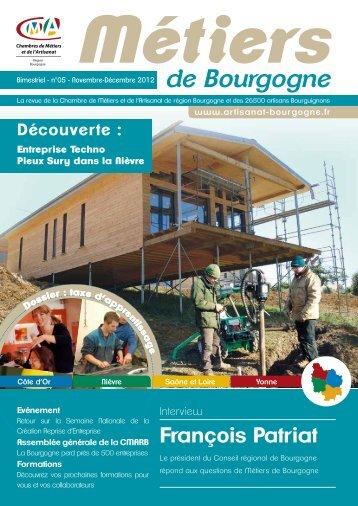 N°5 Métiers de Bourgogne Novembre-Décembre 2012 - la cmarb