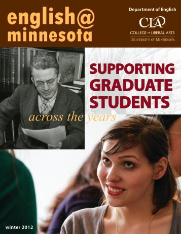 Read the current English@Minnesota as a PDF - Department of ...