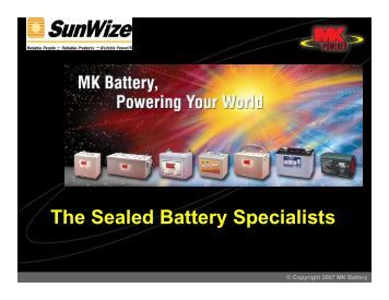 The Sealed Battery Specialists - SunWize Technologies, Inc.