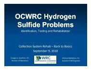 OCWRC Hydrogen Sulfide Problems