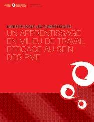 Un apprentissage en milieu de travail efficace au sein des PME