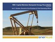 RBC Capital Markets Stampede Energy Roundtable - Enerplus