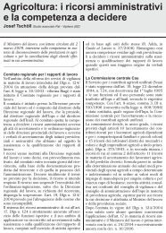Agricoltura: i ricorsi amministrativi e la competenza a ... - UIL Basilicata