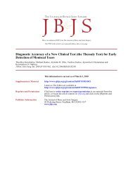 Diagnostic Accuracy of a New Clinical Test (the ... - Ortho-uth.org