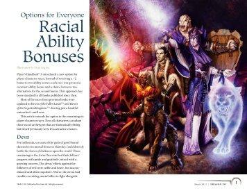Racial Ability Bonuses - Wizards of the Coast