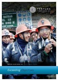 Annual Report 2010 - Fortuna Silver Mines