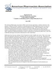 role - comments to IOM Med Errors Committee - American ...