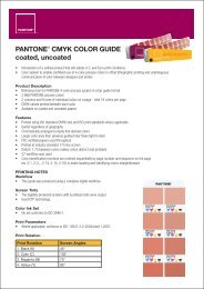 PANTONE® CMYK COLOR GUIDE coated, uncoated - Mattonbutiken