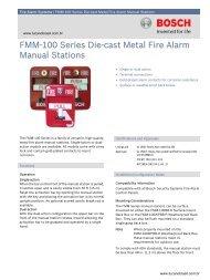 FMM-100 Series Die-cast Metal Fire Alarm ... - Alarmes Tucano