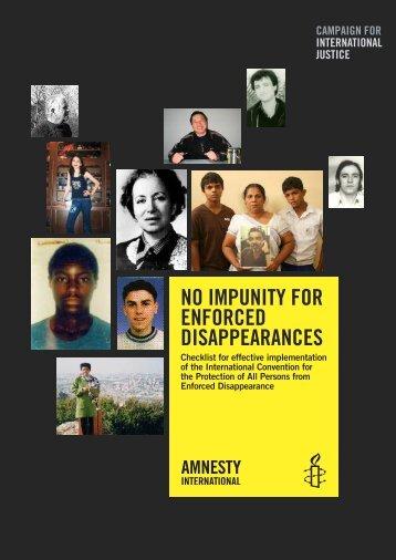 No impuNity for eNforced disappearaNces - Amnesty International