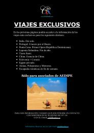 VIAJES EXCLUSIVOS - Aedipe