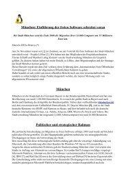 München: Einführung der freien Software schreitet voran München ...