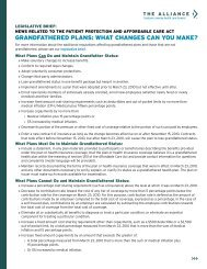 graNdfathered PLaNs: what chaNges caN You Make? - The Alliance