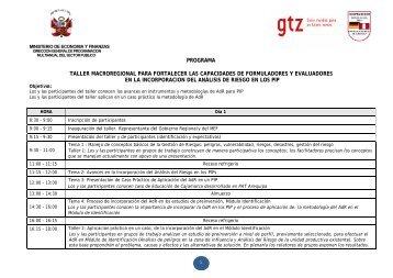 Programa - Gestión del Riesgo y Cambio Climático