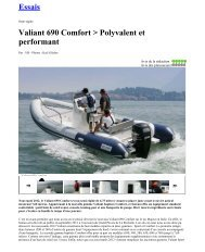 Essais Valiant 690 Comfort > Polyvalent et ... - Brunswick Marine