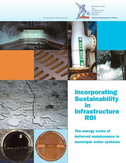 Incorporating Sustainability in Infrastructure ROI: The energy ... - rccao