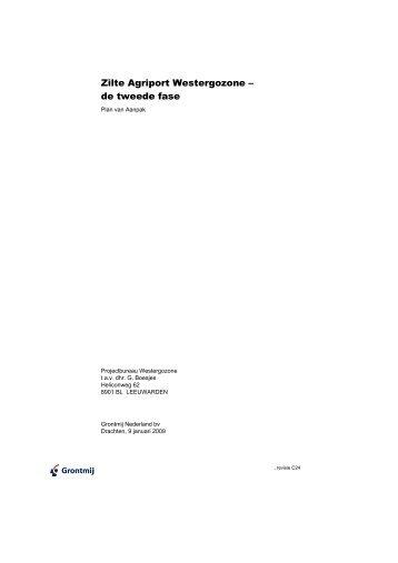 Grontmij - Plan van aanpak tweede fase - A7Westergo