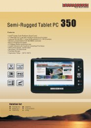 Semi-Rugged Tablet PC 350 - Samwell Group-RUGGEDBOOK