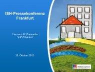ISH-Pressekonferenz Frankfurt - Messe Frankfurt