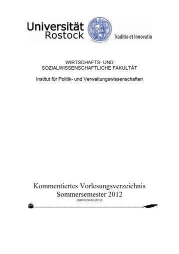 Sommersemester 2012 - Wirtschafts- und Sozialwissenschaftliche ...