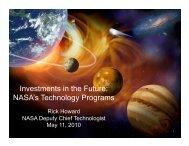 NASA's Technology Programs - Space Flight Systems