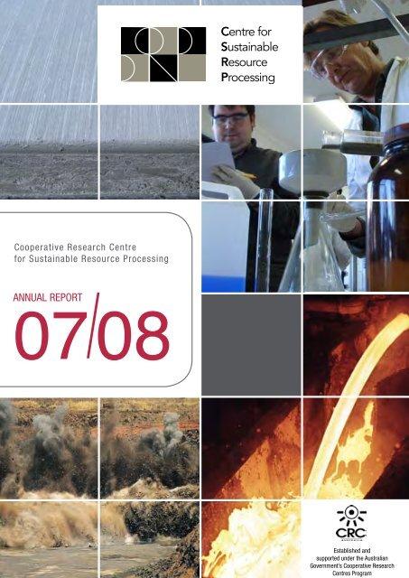 CSRP Annual Report 2007/2008 - Australian Sustainable ...