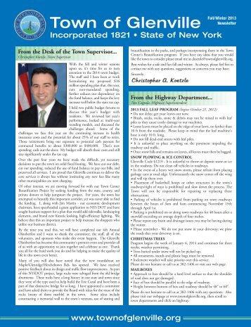 Glenville Newsletter spring 2011.pdf - Town of Glenville