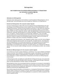 Stellungnahme zur Berücksichtigung der regionalen Dimension der ...
