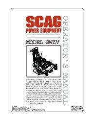 warning - Scag Power Equipment