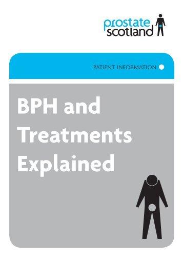 BPH and Treatments Explained - Prostate Scotland