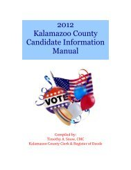 2012 Kalamazoo County Candidate Information Manual - MLive.com