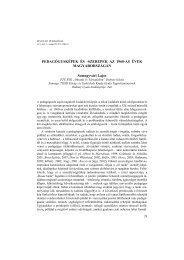 Full text PDF in Hungarian - Magyar Pedagógia