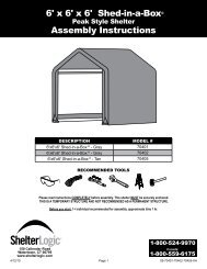 6' x 6' x 6' Shed-in-a-Box® Assembly Instructions - Shelterlogic