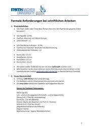 Formale Anforderungen bei schriftlichen Arbeiten - Lehr- und ...