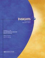 impact of entrepreneurship education - University of New Mexico