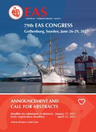 79th EAS CONGRESS Gothenburg, Sweden, June 26-29, 2011