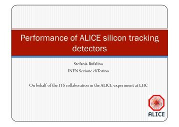 Performance of ALICE silicon tracking detectors - Indico
