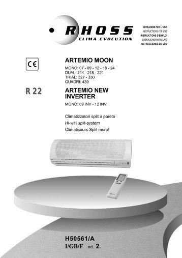 H50561-v02 Manuale Istruzioni Artemio Moon R22 - Rhoss