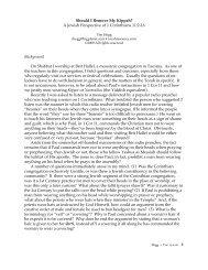 Should I Remove My Kippah? A Jewish Perspective of 1 Corinthians ...
