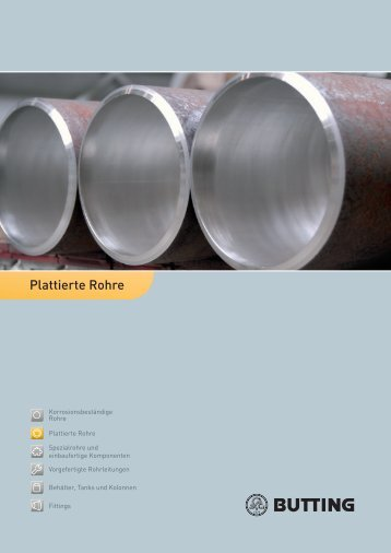 Plattierte Rohre