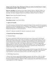 2005/06/07 Minutes - CIRA