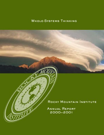 Whole-Systems Thinking - Rocky Mountain Institute