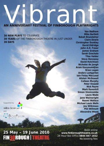 to download the festival brochure for Vibrant - Finborough Theatre