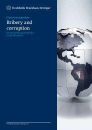 Bribery and corruption - Freshfields