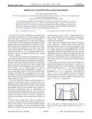 Signatures for Generalized Macroscopic Superpositions - American ...